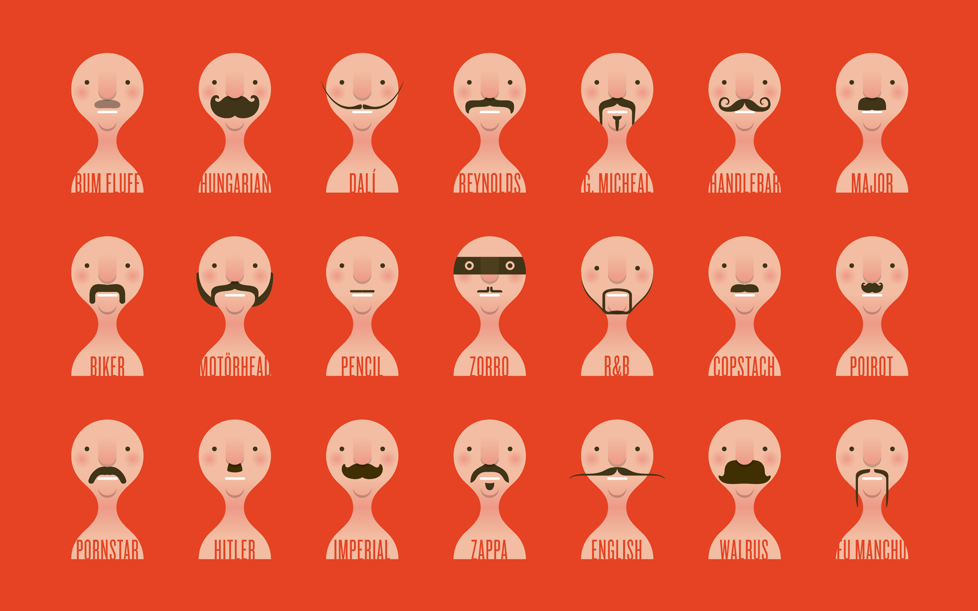 Weekly Wallpaper: Put Moustaches On Your Desktop In Honour