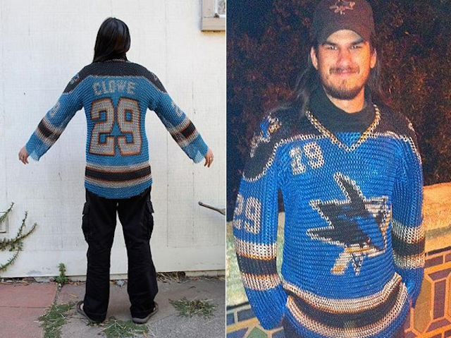 An Interview With The Guy Who Made A Sharks Chain Mail Jersey