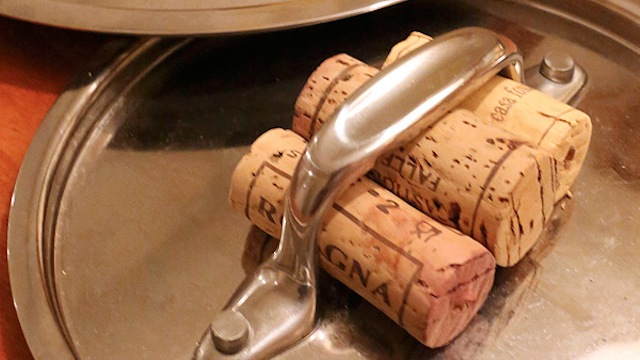 turn old wine corks into built in saucepan lid protection