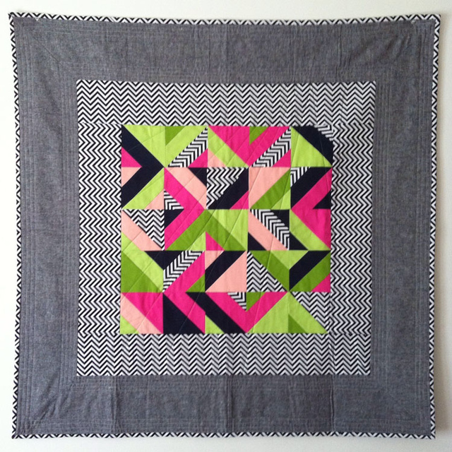 Kinky Geometric Quilt Patterns Are Generated By Computer Code