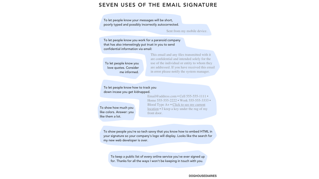 What Your Email Signature Says