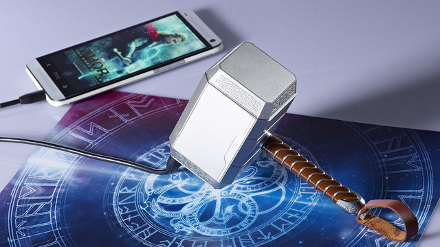 Harness Thor's Mighty Mjölnir Hammer To Charge Your Gadgets