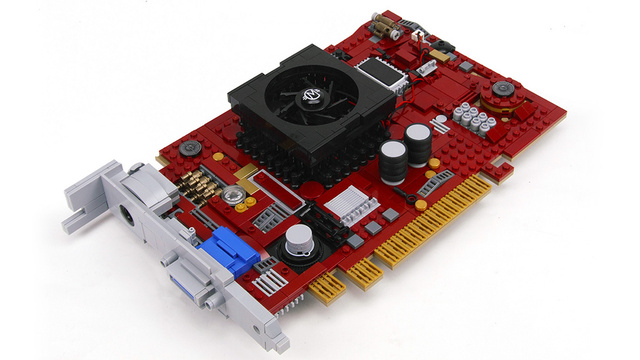 Lego graphics card can only do 8-bit graphics and 64-bit nerdgasms