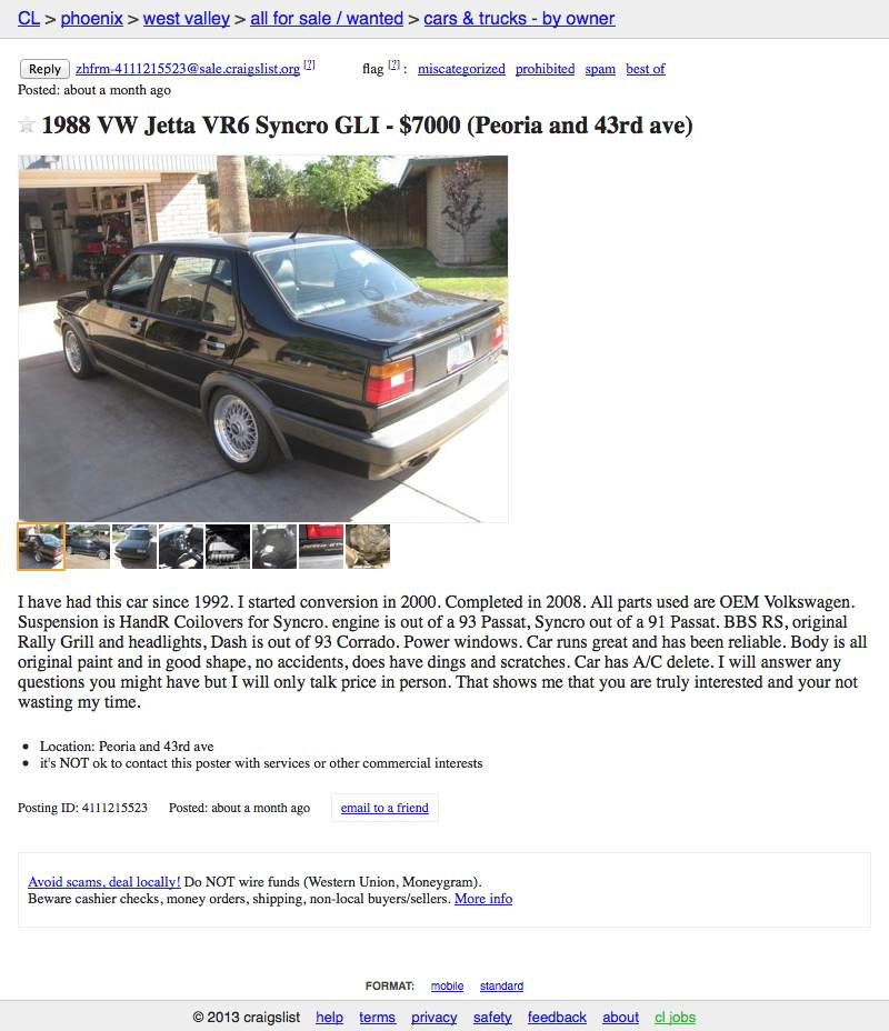 Phoenix Craigslist For Sale Cars