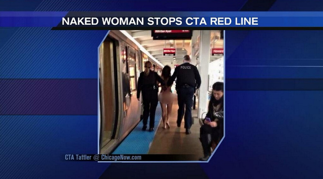 Naked 'Goddess' Takes Over Chicago Train, Orders Everyone Off [NSFW]