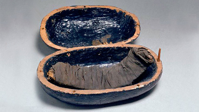 This is what a 3,400-year-old mummy steak looks like