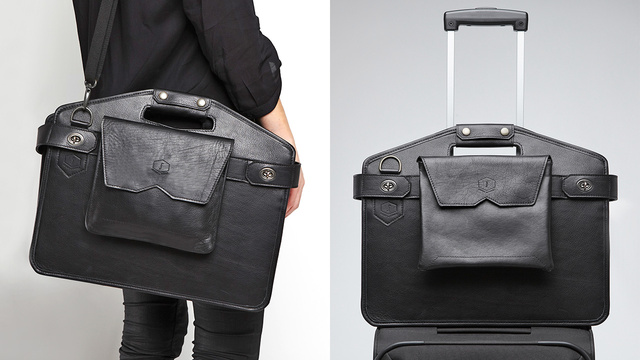 Unfold This Briefcase and Keep Fellow Flyers From Watching You Work