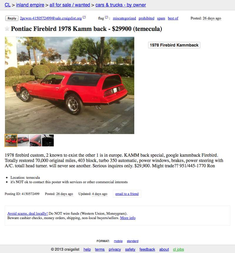For $29,900, Baby Kammback!