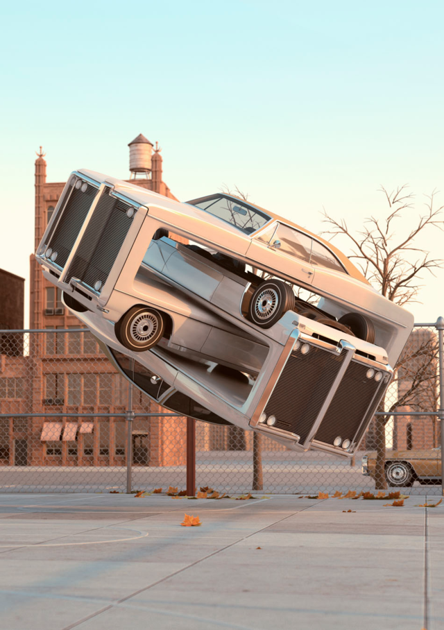 Auto Aerobics: Hyperrealistic Images of Outrageously Weird Cars