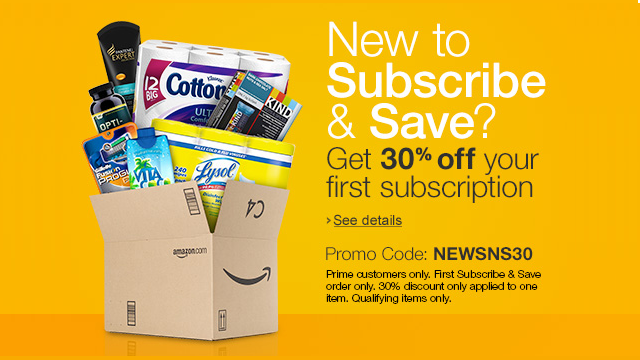 Save 30% On Subscribe & Save Items From Amazon