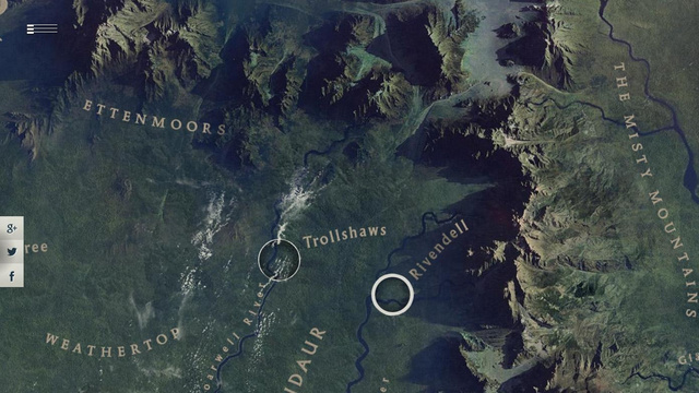 Google's Tour of Middle Earth: LOTR From a Great Eagle's POV