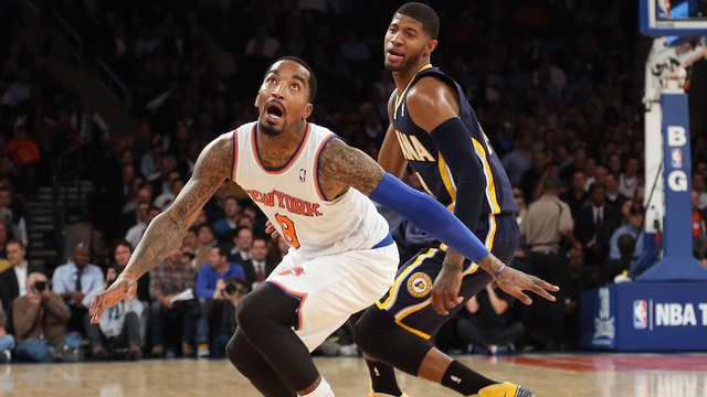 [j.r.: [J.R. Smith during last night's Knicks-Pacers gam……