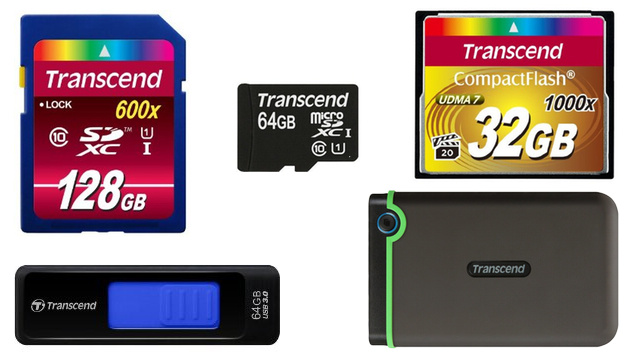 Deep Discounts on Transcend Flash Storage of all Shapes and Sizes