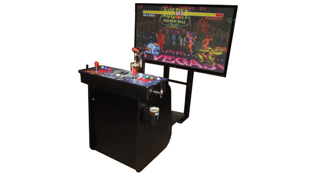 "You Know You Want This 60"" HD Arcade Machine with a Built-In Kegerator"