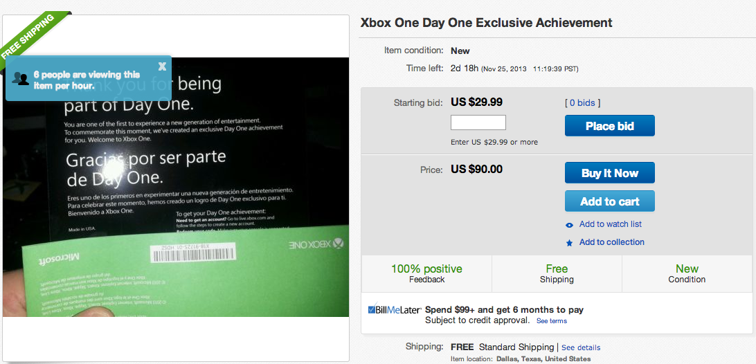 An Xbox One Achievement That People Are Selling On Ebay
