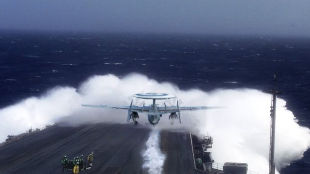 Taking off from an aircraft carrier can be insanely dangerous too