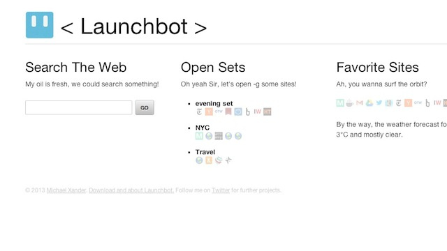 Launchbot Is a Customizable Start Page for All Your Browsers