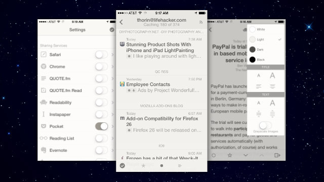 Reeder Adds Themes, Landscape Support, and More