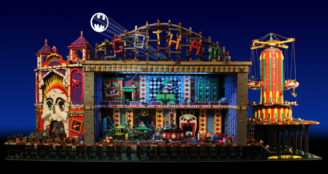 Batman's rogues gather inside the Joker's animatronic LEGO funhouse