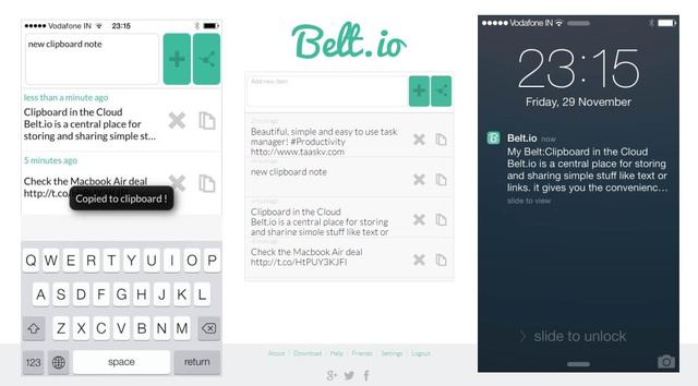 Belt.io Syncs Text & Links Across Devices and Browsers