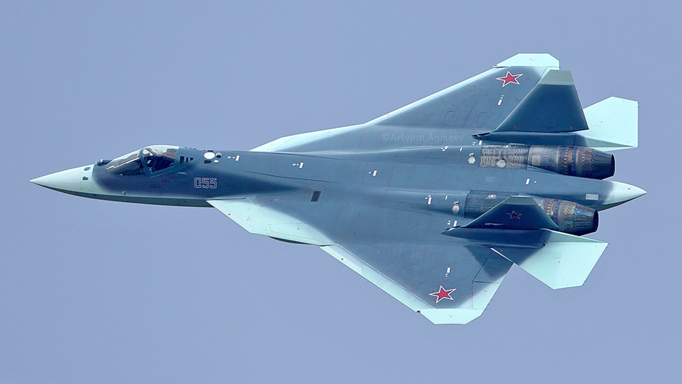 Newly captured photo shows Russia's new badass shark stealth fighter
