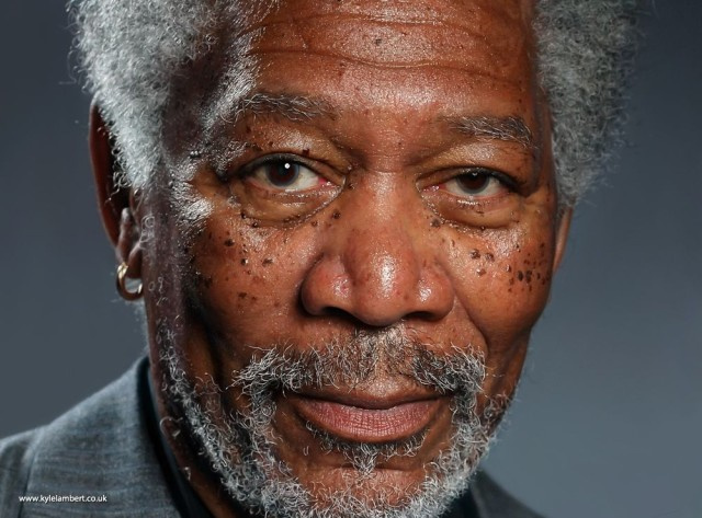 This Incredible Portrait of Morgan Freeman Was Painted on an iPad