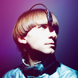 Neil Harbisson with cyborg headgear