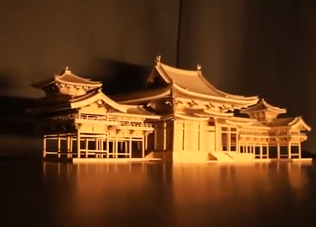 Amazon Cardboard Boxes Make a Beautiful Buddhist Temple