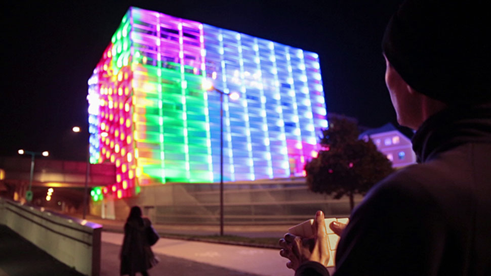 This Building is Controlled by a 3D-Printed Rubik's Cube