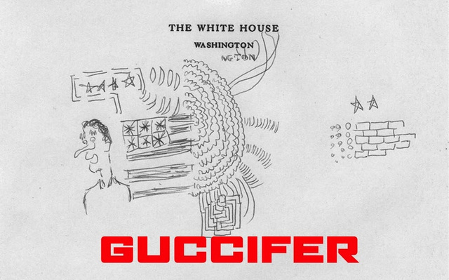 New Hacked Presidential Art May Be Bill Clinton's White House Doodles