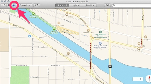 Show Traffic and Road Incidents in Maps for Mavericks