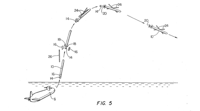 1995 Patent Shows Early Version of Navy's Submarine-Launched Drone