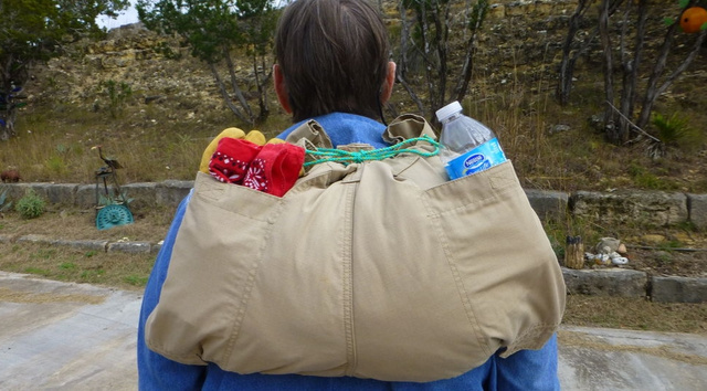 Turn Your Pants Into an Emergency DIY Backpack