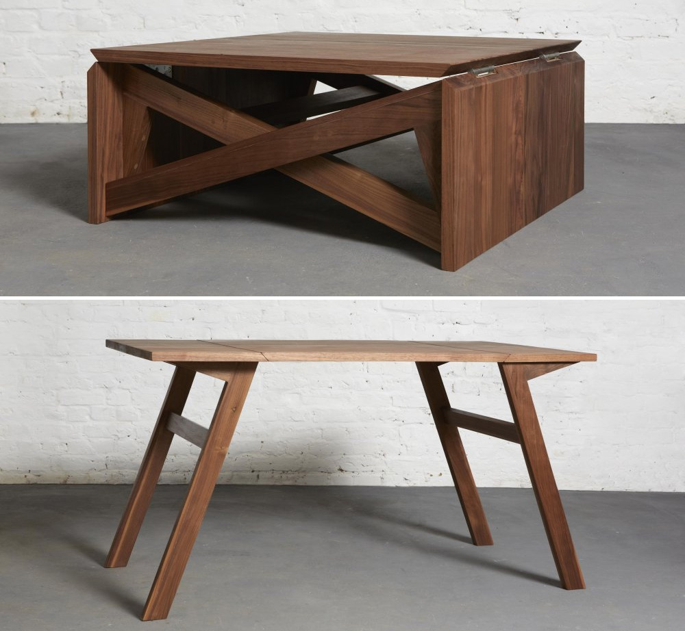 Transform this coffee table into a classy place to dine in seconds gizmodo australia Folding coffee table