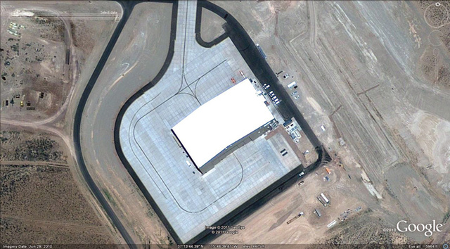 Revealed: Pentagon's new superspy plane hiding in secret Area 51 hangar