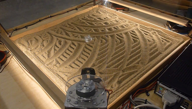 Four Stepper Motors Can Make Beautiful Sand Art