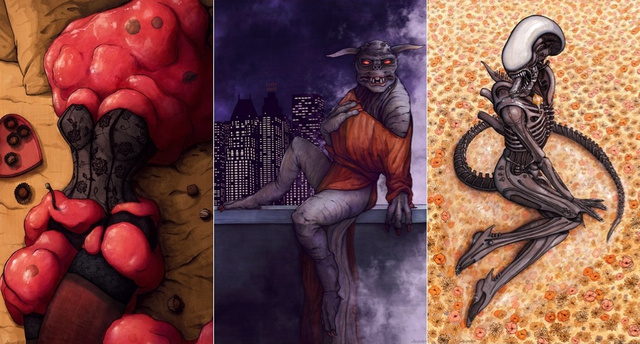 Pin-up calendar features not-so-sexy monsters in sexy poses