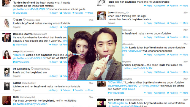 Teens Are Having a Racist Meltdown Over Lorde's 'Ugly' Boyfriend