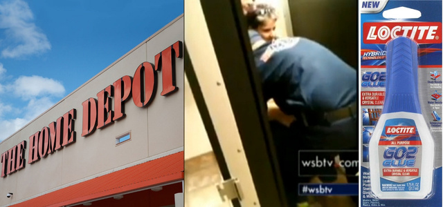 Woman Stuck to Home Depot Toilet After Prankster Puts Glue on Seat