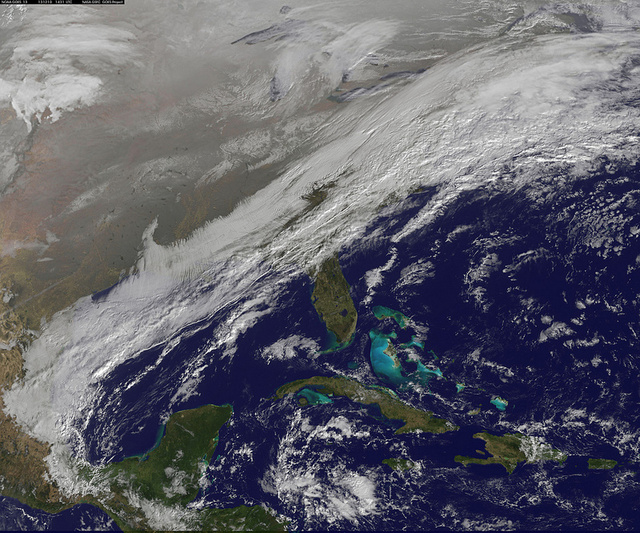 The Entire East Coast Looks Like It's Under a Massive White Blanket