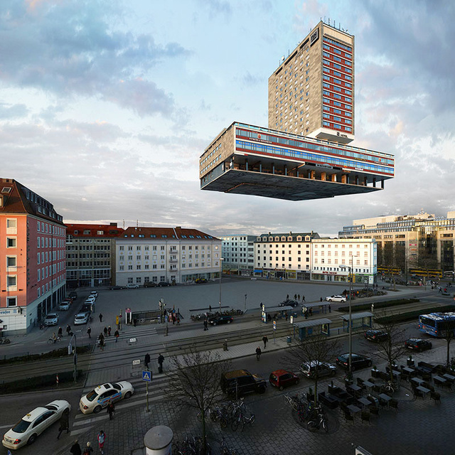 Las 88 surrealistas transformaciones de un edificio en Munich
