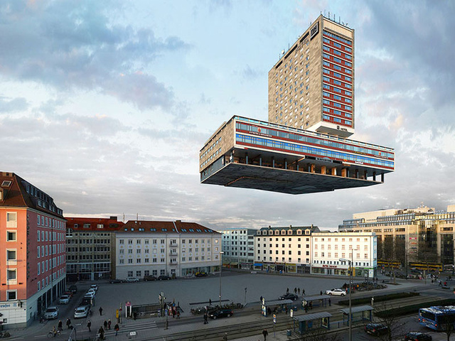 88 surrealistas transformaciones de un edificio en Munich
