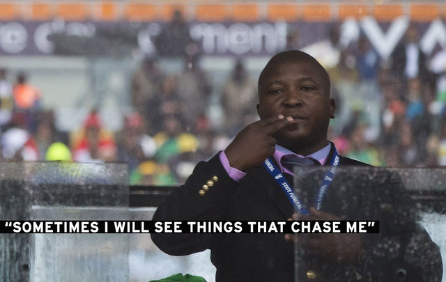 """Fake"" Interpreter Says He Was Hallucinating During Mandela Memorial"