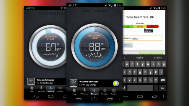 Instant Heart Rate Measures Your Heart Rate with Your Phone's Camera