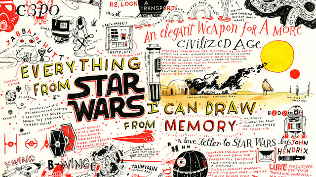 This Entire Awesome <em>Star Wars</em> Poster Was Illustrated From Memory