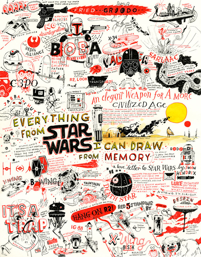 This Entire Awesome Star Wars Poster Was Illustrated From Memory