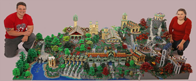 Epic LEGO <em>Lord Of The Rings</em> Diorama Took 200,000 Bricks To Build