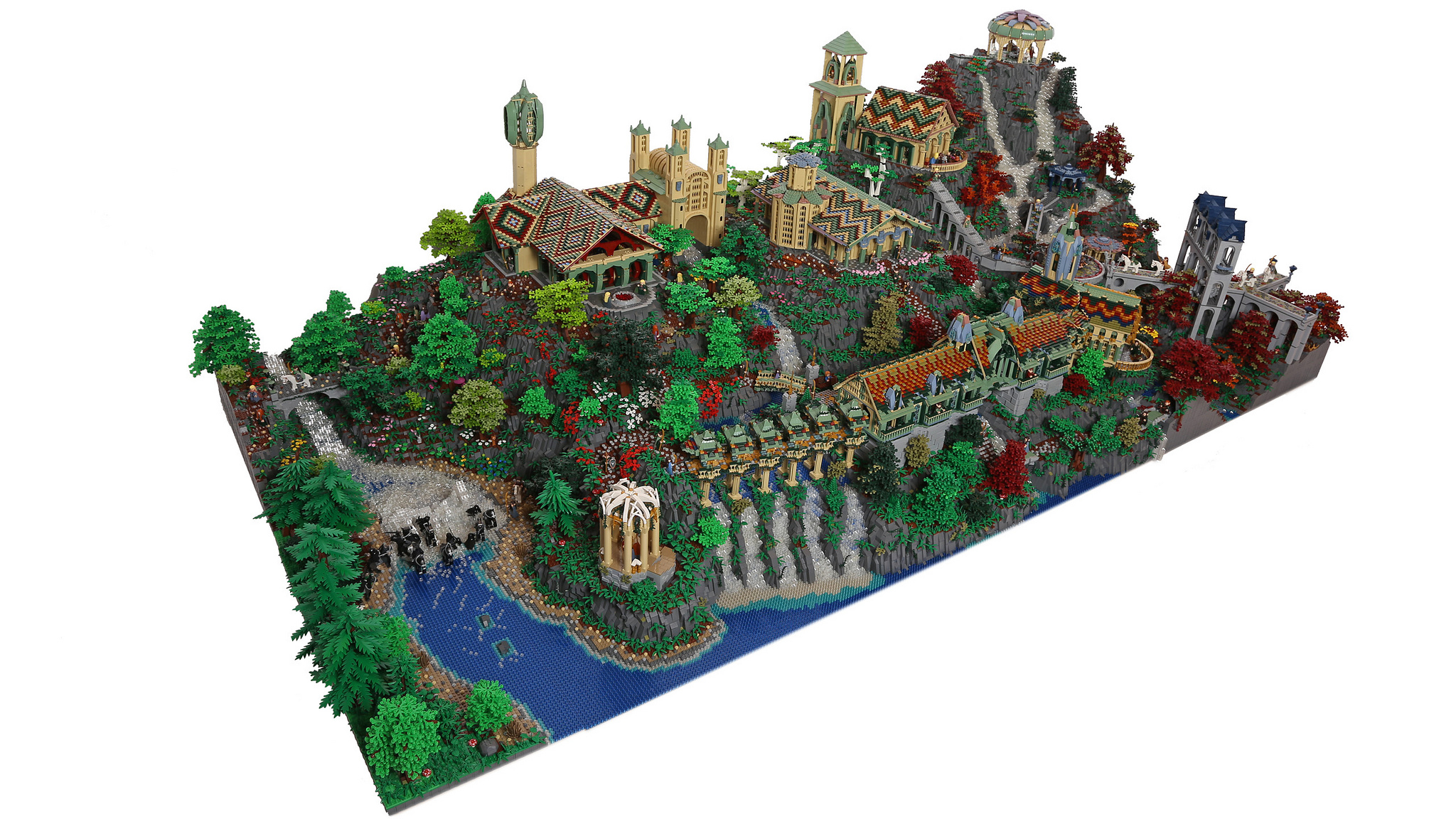 epic lego lord of the rings diorama took 200 000 bricks to