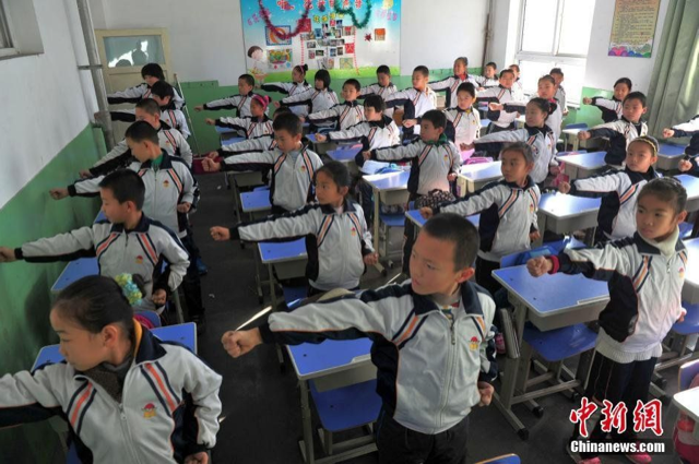 Chinese Kids Fighting Smog with Martial Arts