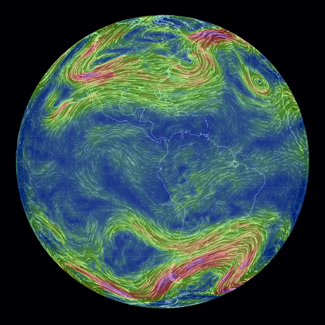 Be Totally Entranced By These Technicolor Winds Swirling Around Earth